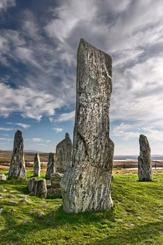 standing stones at Calanais, Lewis, older than the Pyramids.
