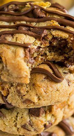 Chocolate Chip Cornflake Cookies