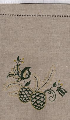 Linen Table Topper by GrandpaGrandmasAttic on Etsy, $10.00