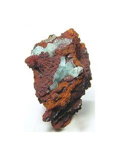 Aqua Blue Cuprian Adamite Crystal Cluster rock by FenderMinerals