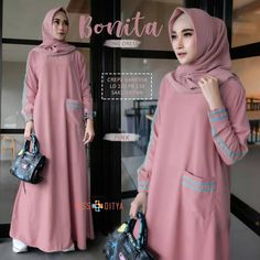 Within the last 30 years, the evolution of fashion has been in parallel with contemporary Casual Hijab Outfit, Hijab Dress, Abaya Fashion, Muslim Fashion, The Dress, Pink Dress, Habits Musulmans, Evolution Of Fashion, Mocca