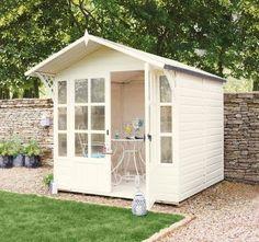 Buy Garden Buildings from the Next UK online shop Big Garden, Dream Garden, Garden Sheds, Shed Storage, Built In Storage, She Shed Decorating Ideas, Painted Shed, Bike Shed, She Sheds