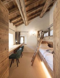 View full picture gallery of Chesa Maria – La Punt St.Moritz View full picture gallery of Chesa Maria – La Punt St. Bunk Rooms, Attic Rooms, Bunk Beds, Bedrooms, Attic Spaces, Chalet Design, House Design, Loft Design, Chalet Style