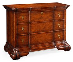 Dutch style large chest of three drawers