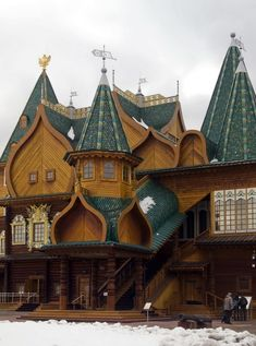 Tsar Aleksey Mikhailovich Romanov knew how to kick it with a wooden palace.