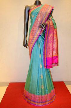 Classic Banarasi Silk Saree With Grand Kadwa Zari Buttas Product Code: AB212350…