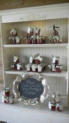 Our wedding favors: homemade strawberry jam