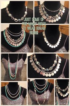 Ladies, this is all ONE necklace! Sugar Rush from Premier Designs http://colorful.mypremierdesigns.com Access code: shine