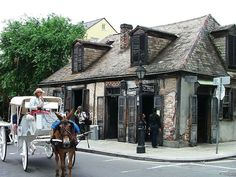 Lafitte's Blacksmith Shop in New Orleans. Opened in 1772, the oldest continuously running bar in the United States