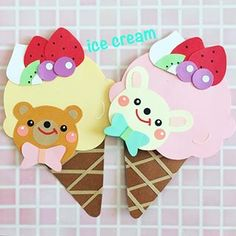 Candy Packaging, Diy And Crafts, Paper Crafts, Paper Art, Birthday Cards, Hello Kitty, Ice Cream, Kindergarten Decoration, Kids