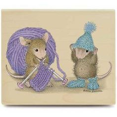 Stampabilities House Mouse Stamp – Heat for the winter - Easy Yarn Crafts Knitting Quotes, Knitting Humor, House Mouse Stamps, Mouse Pictures, Knit Art, Cute Mouse, Penny Black, Wall Art Designs, Yarn Crafts