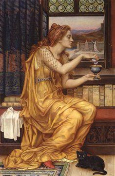 The Love Potion - Oil on canvas - Evelyn de Morgan (c1850-1919)