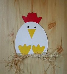 Paper Crafts for Spring - Paper Hen Decoration