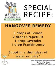 Well Brian tried this recently after s few too many beers at at a wedding (not… Hangover Essential Oils, Essential Oil Uses, Yl Oils, Doterra Essential Oils, Young Living Oils, Young Living Essential Oils, Hangover Remedies, Oils For Life, Holistic Healing