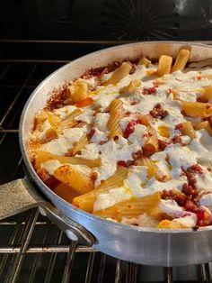 Rigatoni Al Forno Recipe, Plum Tomatoes, Cherry Tomatoes, Pecorino Romano Cheese, Baked Rigatoni, Pasta Bake, Tomato Paste, Hawaiian Pizza, How To Cook Pasta