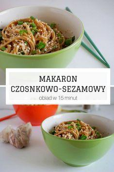 Makaron czosnkowo-sezamowy - Obiad w 15 minut Meat, Chicken, Recipes, Food, Recipies, Essen, Meals, Ripped Recipes, Yemek