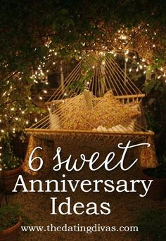 LOVE these anniversary ideas! SO doing them this year!