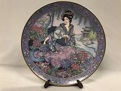 Vintage Royal Doulton Hydrangea Maiden By Marty Noble Limited Edition Plate