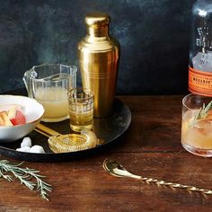 A gold strainer glams up any cocktail cart. #gold #strainer #cocktails #food52 #gift #guide