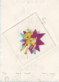 Gravures & Estampes | Atsuko Ishii | Hard boiled | Tirage d'art en série limitée sur L'oeil ouvert Hard Boiled, Playing Cards, Logos, Artist, Artwork, Etchings, Prints, Open Set, Work Of Art