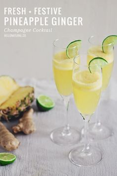 The fresh and zingy flavors are complimented with the champagne's frizz. Get the recipe from Hello Natural.   - CountryLiving.com