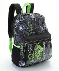 Love this Black & Green City Cyclist Light-Up Backpack by A.D. Sutton on #zulily! #zulilyfinds