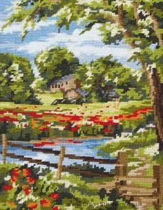 Summer Scene Needlepoint Tapestry Kit by Anchor