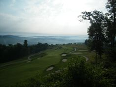 The view from the Mansion at the Pete Dye at French Lick. Takes my breath away every time.