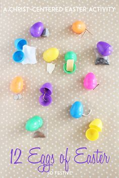 Keep Christ in Easter with this simple 12 Eggs of Easter Activity. Perfect for family lessons, LDS Primary Sharing Time, and more!