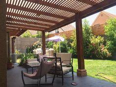 Pérgolas, Cobertizos, Quinchos, Cortavistas y Deck | Diseño de terrazas, Pino Oregón