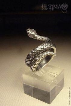 """Кольца ручной работы. Ярмарка Мастеров - ручная работа. Купить Кольцо """"Змея"""". Handmade. Серебряный, кольцо змея, змея, змеи"""