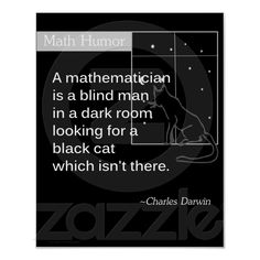Math Humor by Charles Darwin Posters from Zazzle.com