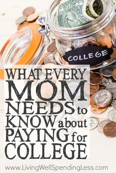 College might seem far away (especially if your kids are young) but the reality of having to pay for it is closer than you think! Whether your kids are about to leave the nest or still in diapers, don't miss this super informative post on what every mom needs to know about paying for college. A must read!