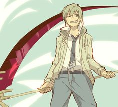 Maka from Soul Eater: male version. He resembles Soul too much, that's the problem.