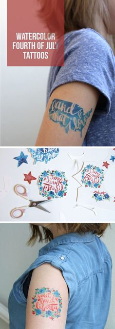 Henna Tattoo Tulsa : Make your own temporary tattoos for the fourth of july