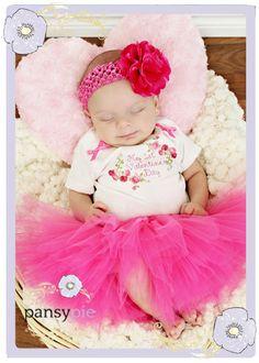Perfekt My First Valentineu0027s Day Baby Girl Valentines By PansyPieBoutique, $30.50