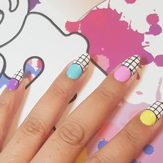 It isn't spring until you've run out of all your pastel polish! French Nails, French Manicures, Geometric Nail Art, Nail Art Galleries, Cool Nail Designs, All Things Beauty, Nailart, Pastel, Polish