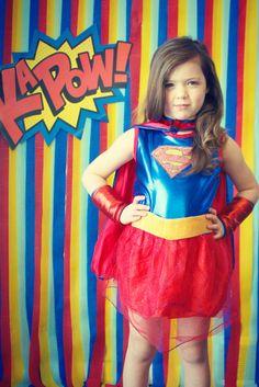 superhero party photo idea. streamer backdrop