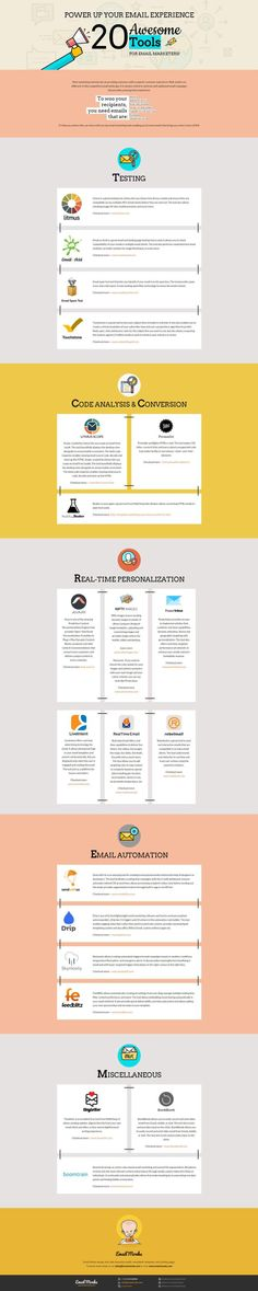 Top 20 Email Marketing Tools [Infographic]