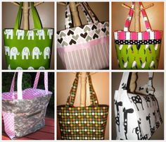 Diaper Bag Tutorial & Pattern Roundup, Handmade Gifts for Baby's & Toddlers (Links to Multiple Tutorials For Baby Diaper Bags)
