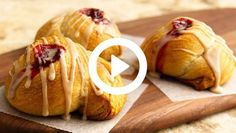 Crescent rolls are the starting point for a delicious Danish pastry recipe with a cream-cheese filling.