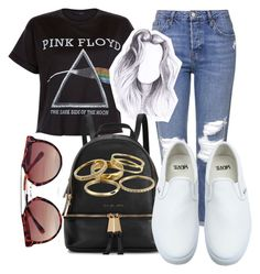 """""""Untitled #90"""" by diva-fashionista ❤ liked on Polyvore featuring Topshop, Floyd, Michael Kors, Boohoo, Vans, Kendra Scott, women's clothing, women, female and woman"""