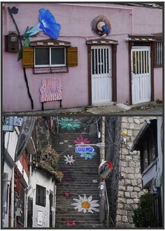 If you are familiar with korean drama,, there is a  famous destination in Seoul , called Ihwa-dong, a village in South Korea which the village is decorated with interactive mural. It's a place where many famous korean drama shooting taken place here ,such as Rooftop Prince. Must have a visit to the village if you visit to korea.