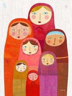 Matryoshka Dolls Canvas Print by twoems on Etsy, $119.00
