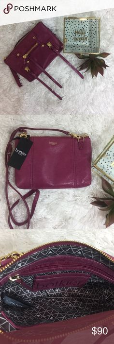 "Botkier Convertible Crossbody Wristlet **NWT**Botkier Logan Convertible Crossbody Wristlet.  Genuine Leather.  Color:  Wine.  Length: 8 1/2"". Height: 5 1/2"".  Wristlet Drop: 6"".  Strap Length: 21"".  Top Zip Closure, Gunmetal Hardware, Logo-Patterned Lining, Removeable Crossbody Strap, Wristlet Strap Zipper Pull, Dust Bag Included. Botkier Bags Crossbody Bags"