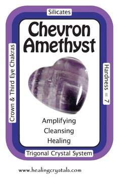 """I am connected to a pure source of inspiration."""" Chevron Amethyst is a combination of Amethyst and White Quartz, mixed together in a V-striped or banded pattern. Chevron Amethyst combines the strengthening and enhancing qualities of Quartz with the stress relieving qualities of Amethyst. This symbiotic combination of minerals lends itself to a wonderfully spiritual stone, which is great for gently removing the veils that obscure some of the hidden meanings in life"""