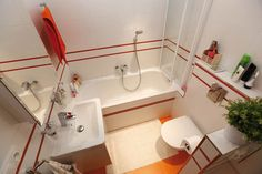 Compact Modern Bathroom Interior Design http://hative.com/small-bathroom-design-ideas-100-pictures/
