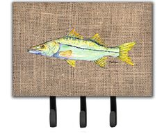 Fish - Snook Leash Holder or Key Hook