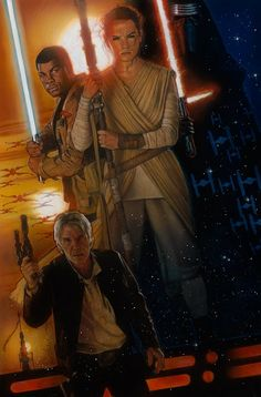 Drew Struzan - Star Wars Episode VII The Force Awakens  I wish to say thank you to all the fans. Your voice did not go unheard. I couldn't be happier that Lucasfilm and Disney called on me to create this piece of art for you and for J.J. Abrams and Kathleen Kennedy and all the crew that worked so hard to bring Episode VII to the big screen. May the force be with us for a long time!