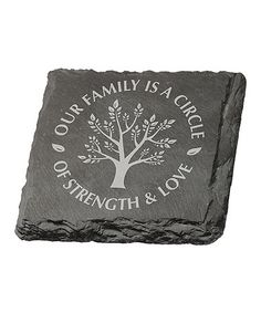 Look at this #zulilyfind! 'Our Family' Slate Coaster - Set of Four #zulilyfinds